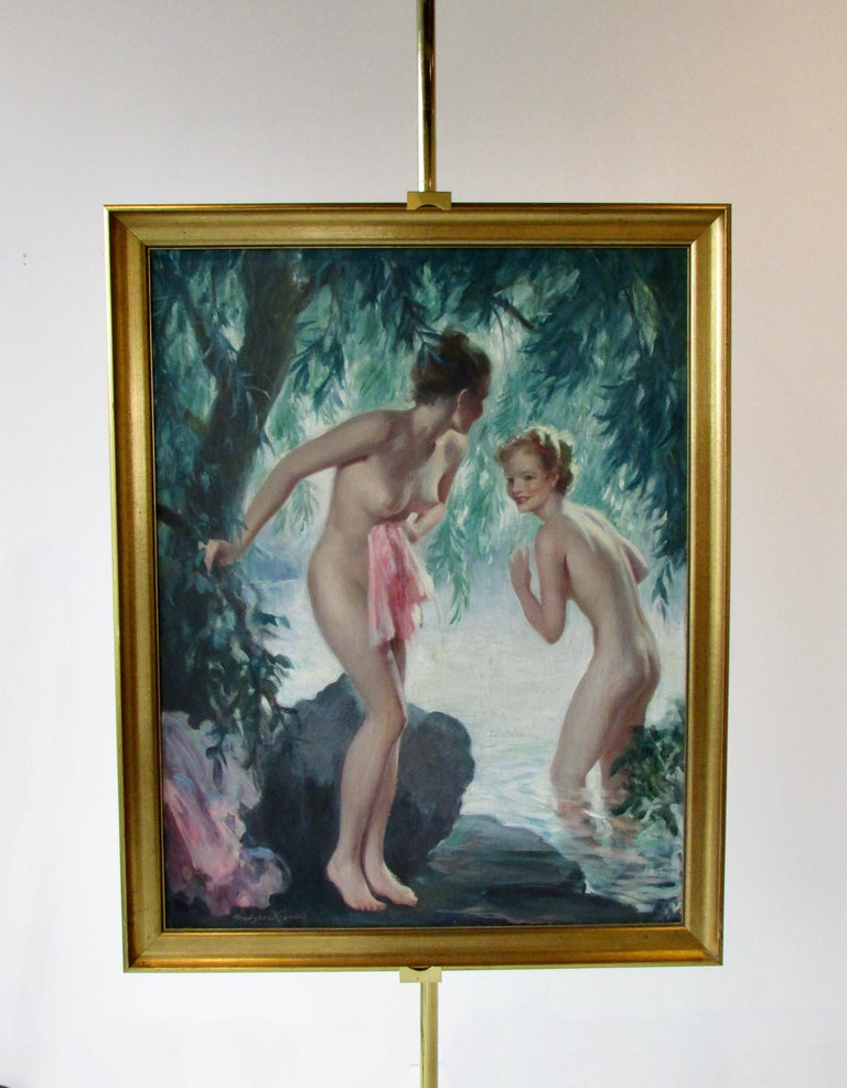Bradshaw Crandell Original Water Nymph Illustration Art for Iodent Toothpaste For Sale 4