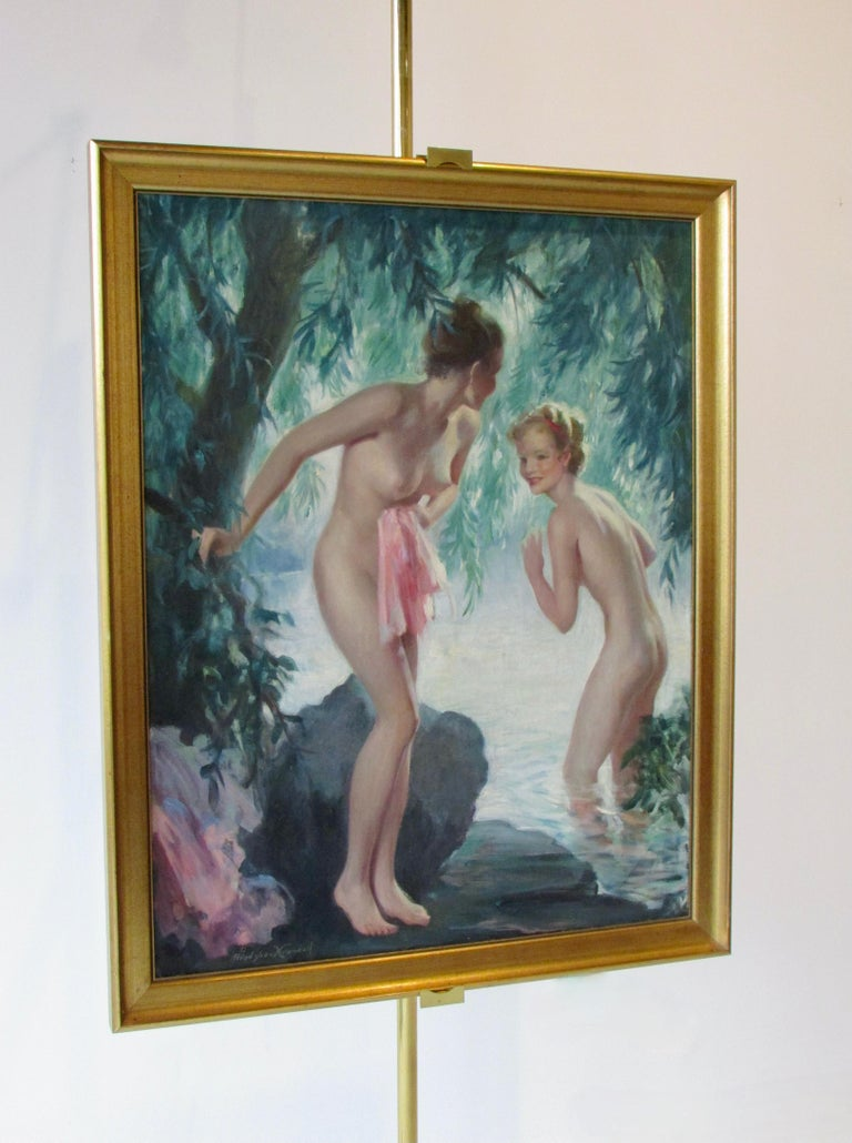 Bradshaw Crandell Original Water Nymph Illustration Art for Iodent Toothpaste For Sale 7