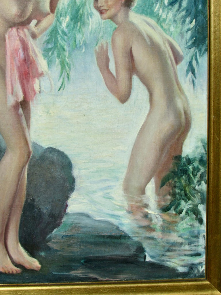 Wood Bradshaw Crandell Original Water Nymph Illustration Art for Iodent Toothpaste For Sale