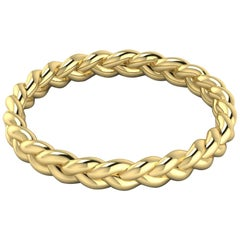 Braid Bracelet by Romae Jewelry in 22 Karat Yellow Gold