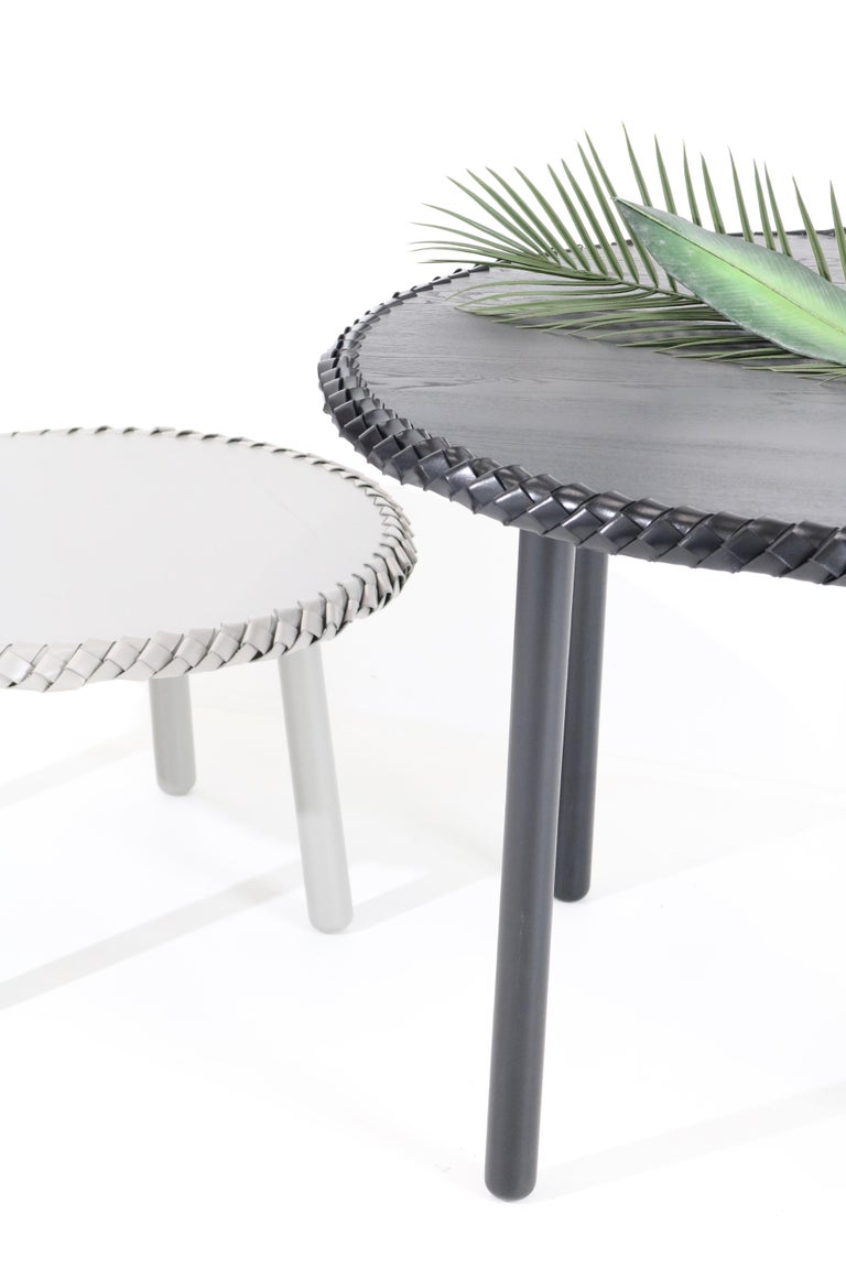 Braided Black Ashwood Entry / Dining Table, by Debra Folz For Sale 2