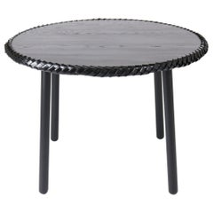 Braided Black Ashwood Entry / Dining Table, by Debra Folz