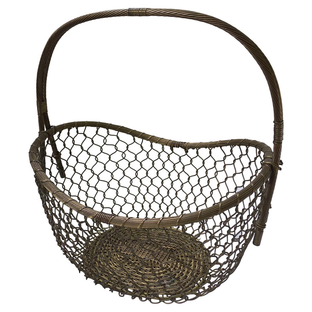 Braided Brass Basket