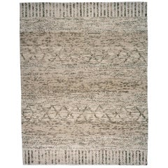 Braided Cream and Grey Area Rug