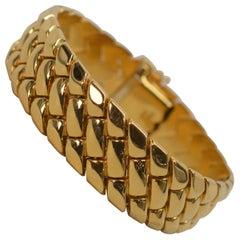 Braided Links 18 Karat Italian Yellow Gold Bracelet