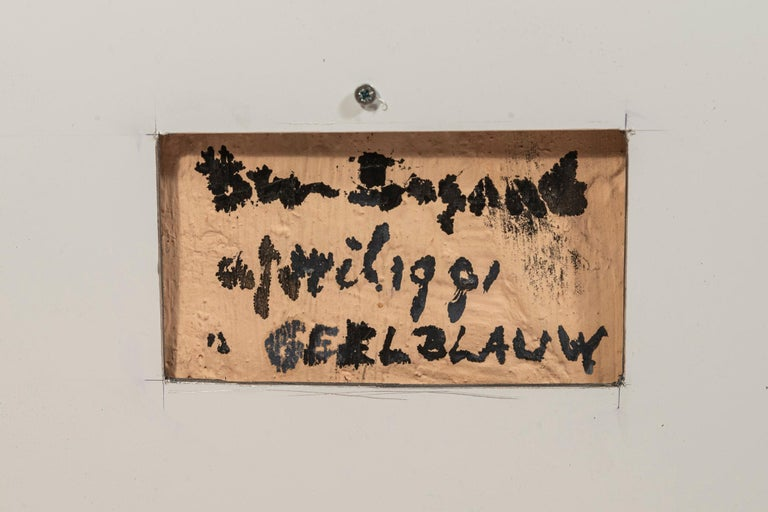 Late 20th Century Bram Bogart, Painting, Signed, Belgium, 1981 For Sale
