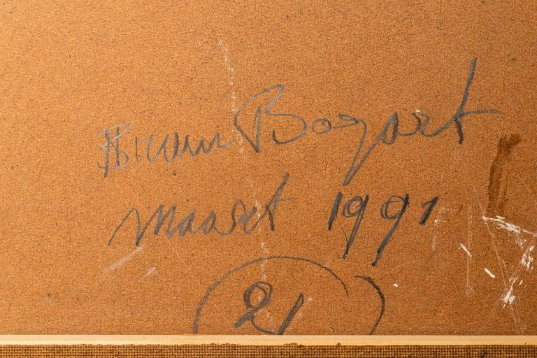 Bram Bogart, Painting, Signed, Belgium, 1991 For Sale 6