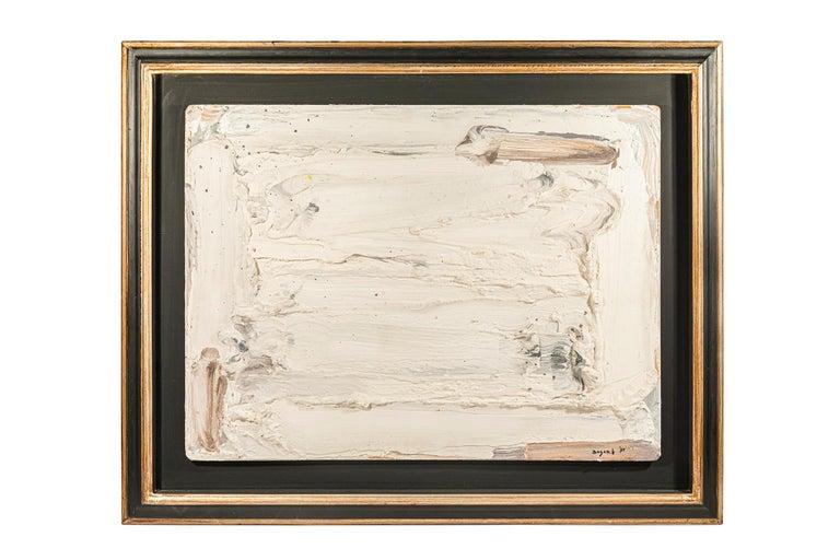 Bram Bogart, Painting, Signed, Belgium, 1991 - Beige Abstract Painting by Bram Bogart
