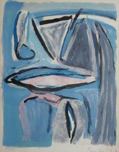 Composition. 277/300., color lithograph on paper, 60x47 cm