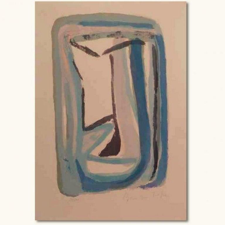 Bram Van Velde Abstract Print - No title