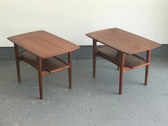 Bramin Danish Modern Teak Nightstands or End Tables