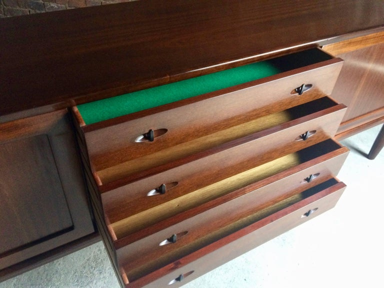 Bramin Teak Sideboard Credenza by H W Klein Danish Midcentury 1960s For Sale 1