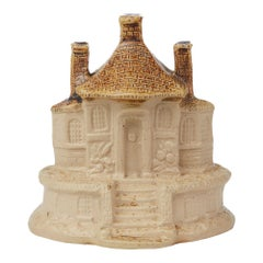 Brampton Derbyshire Salt Glazed Stoneware Model of a Cottage, 19th Century