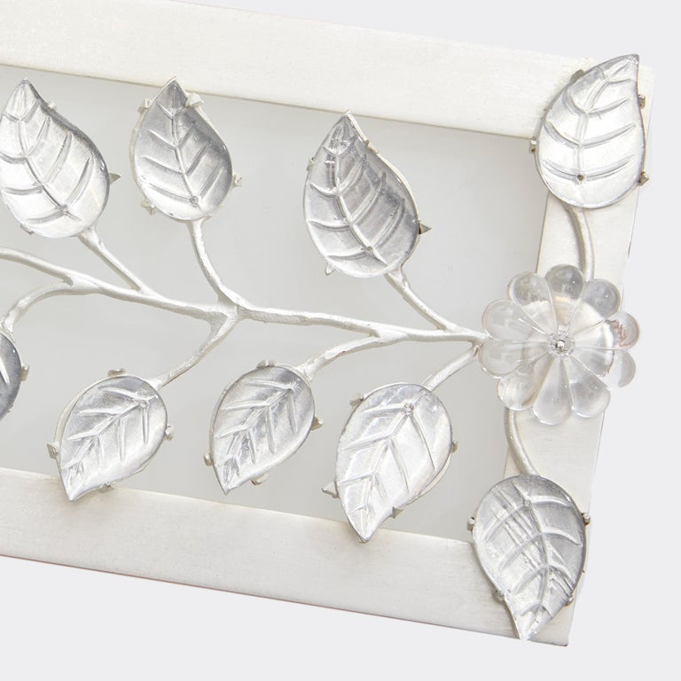 Branch Vanity Light by David Duncan, Brushed Silver, Art Deco Style Wall Light In New Condition For Sale In New York, NY