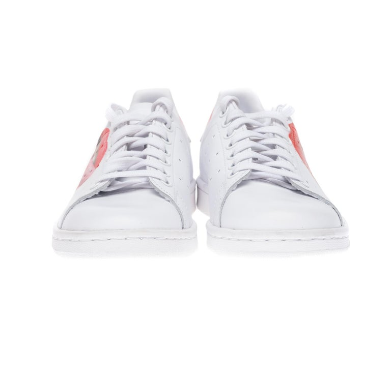 Women's Brand New Adidas Stan Smith All White sneakers customized