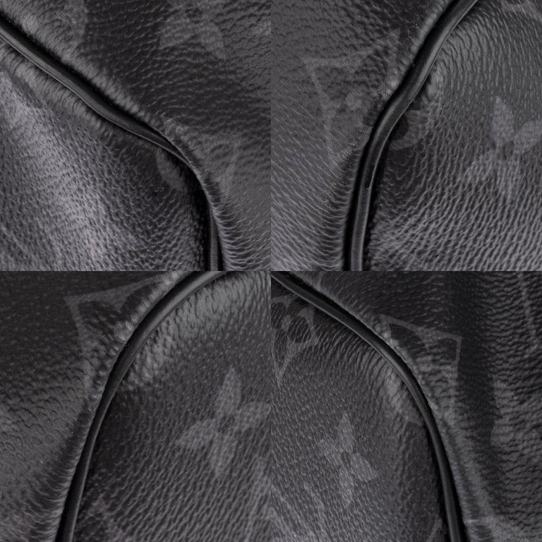 Brand New BATBAG by the artist Patbo:  Louis Vuitton Keepall 55 Eclipse strap! For Sale 6