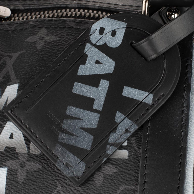 Brand New BATBAG by the artist Patbo:  Louis Vuitton Keepall 55 Eclipse strap! For Sale 1