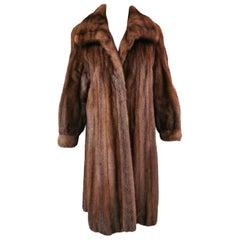 Brand New Birger Christensen Demi Buff Mink Fur Coat (Size-8/S)