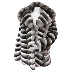 Brand new birger christensen unisex chinchilla fur coat