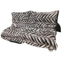 Gray Pillows and Throws