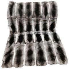 "Brand New Chinchilla Fur Blanket (Size 40""x60"")"
