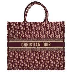 Brand New Christian Dior Book Tote bag GM in burgundy Monogram canvas
