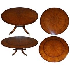 Brand New Cluster Oak Extending Jupe Round Dining Tables Seats 6-12 People