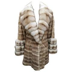 Brand New Dennis Basso Ermine Sable Fur Coat (Size 6-8/S)