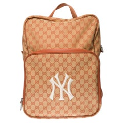 Brand New- Gucci GG NY Yankees Backpack in brown canvas
