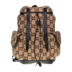Brand New- Gucci Natural GG Wool Backpack