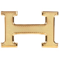 "Brand new Hermès belt buckle model ""Guillochée"" in shiny gold !"