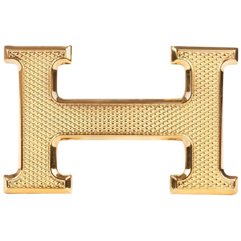"Brand new Hermès belt buckle model ""Guillochée"" in shiny gold ! For Sale"