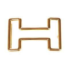 "Brand new Hermès belt buckle model ""Tonight"" in shiny gold !"