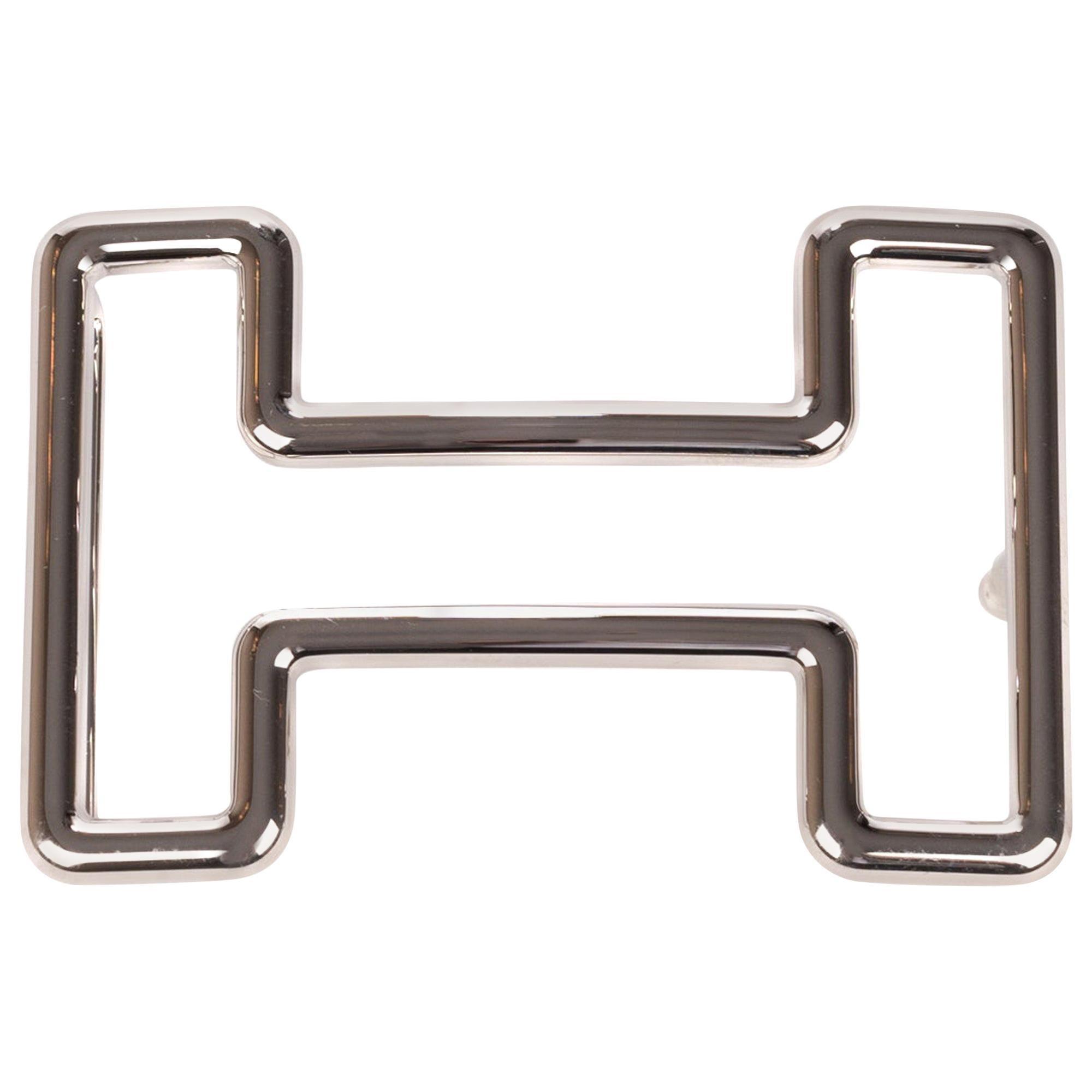 """Brand new Hermès belt buckle model """"Tonight"""" in shiny silver !"""