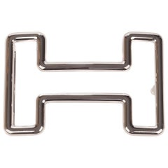"Brand new Hermès belt buckle model ""Tonight"" in shiny silver !"