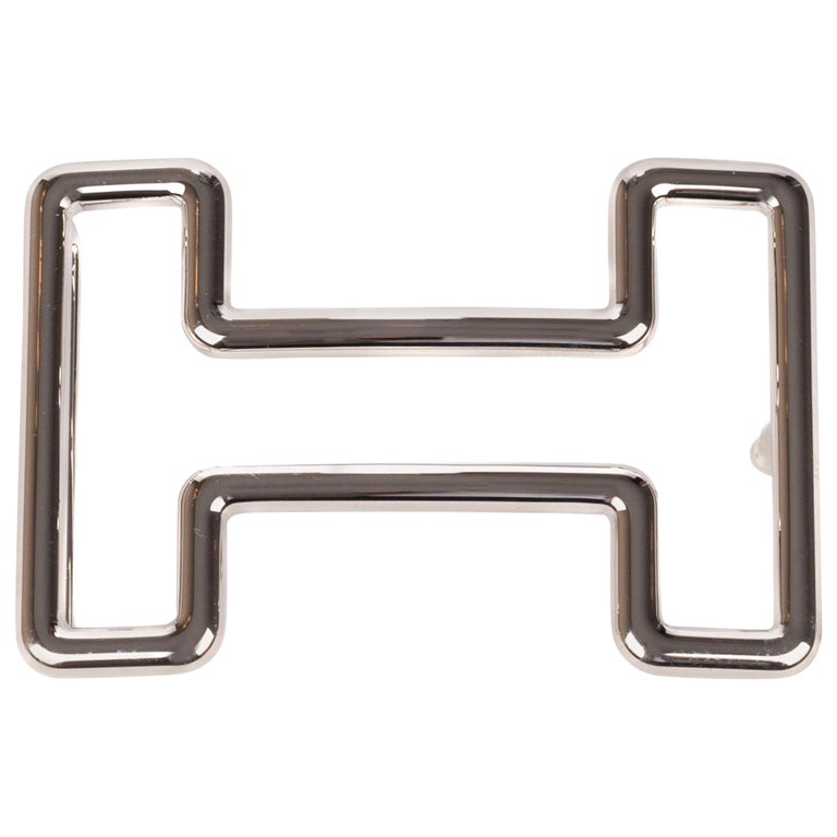 "Brand new Hermès belt buckle model ""Tonight"" in shiny silver ! For Sale"