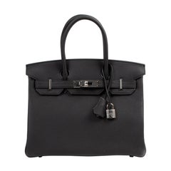 Brand New Hermès Birkin 30 Black Togo PHW