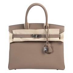 Brand New Hermès Birkin 30 Etoupe Togo PHW