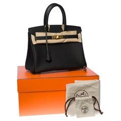 Brand New - Hermès Birkin 30 handbag in Black Togo leather, gold hardware