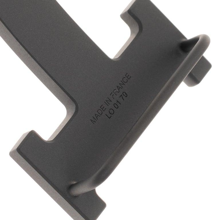Black Brand new Hermes Constance 5382 in matt black PVD Belt Buckle !