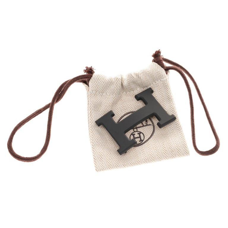Brand new Hermes Constance 5382 in matt black PVD Belt Buckle ! For Sale 2