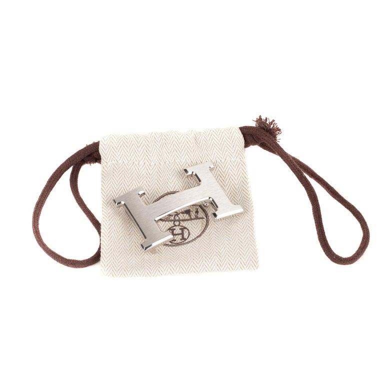 Brand new Hermes Constance brushed silver Belt Buckle ! For Sale 2