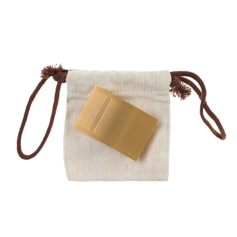 Brand New Hermes Rectangle Belt Buckle in gold plated metal (37mm) 2