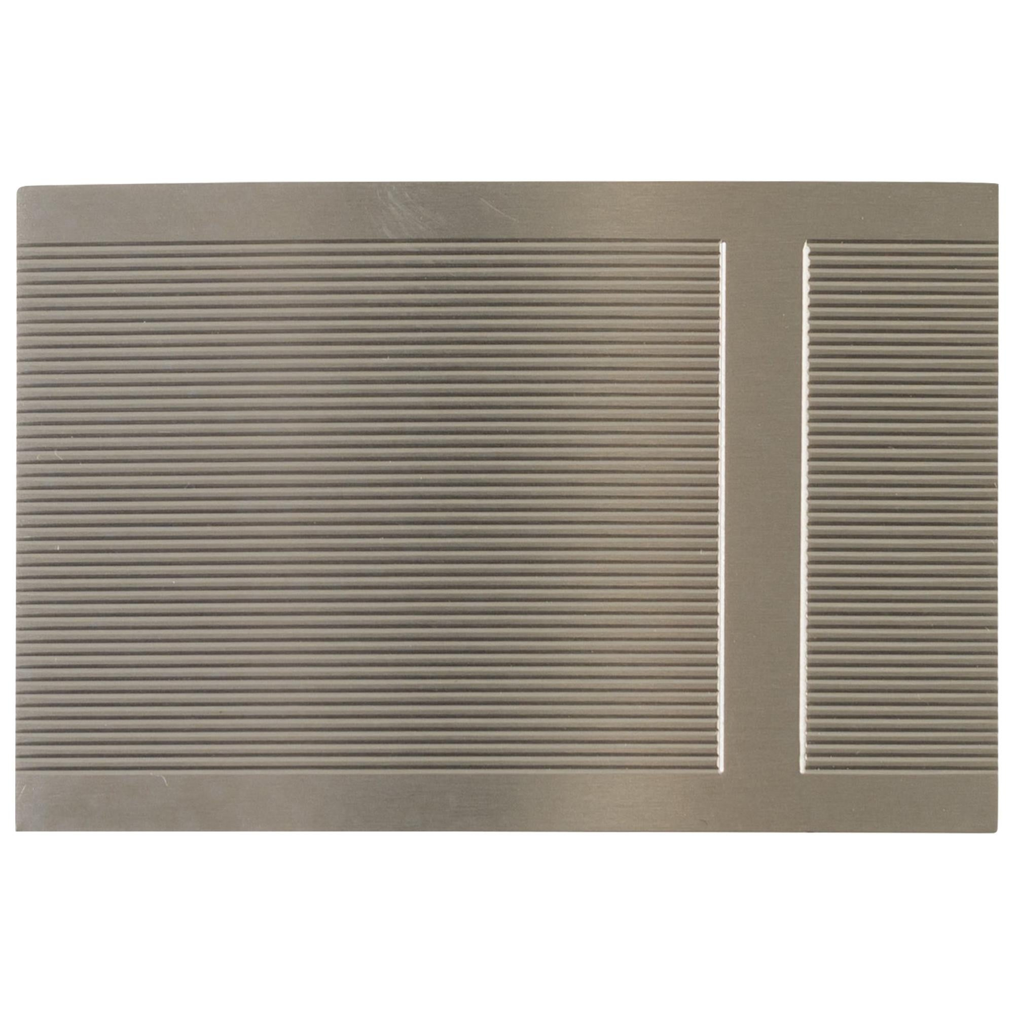 Brand New Hermes Rectangle Belt Buckle in Silver metal (37mm)