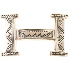 Brand new Hermes Touareg buckle in Sterling Silver