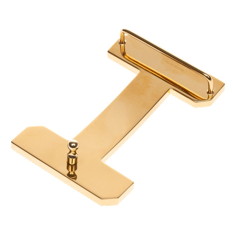 Brand new Large size Model Hermès belt Buckle 3D Gold - plated metal In New Condition For Sale In Paris, Paris