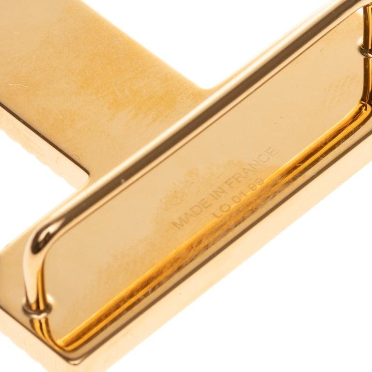Brand new Large size Model Hermès belt Buckle 3D Gold - plated metal For Sale 1