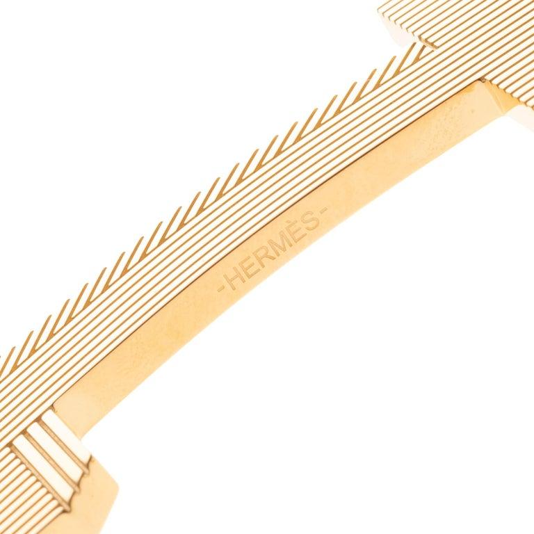 Brand new Large size Model Hermès belt Buckle 3D Gold - plated metal For Sale 2