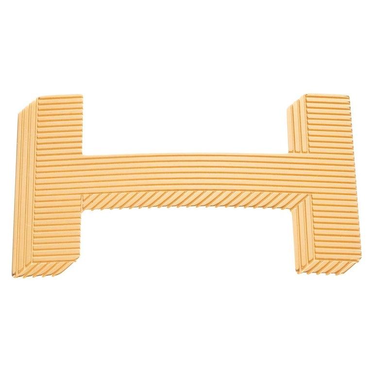 Brand new Large size Model Hermès belt Buckle 3D Gold - plated metal For Sale