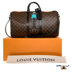 """BRAND NEW-Limited edition Louis Vuitton keepall 50 """"Friends"""" virgil abloh fw21"""